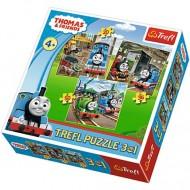 Puzzle Thomas si Prietenii 3 in 1