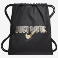 Sac de umar cu snur Nike Just Do It negru