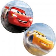 Set 8 farfurii de unica folosinta Fulger McQueen si Cruz Ramirez Cars 3 20 cm