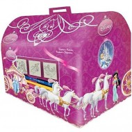Set creativ de stampile in cutie Printesele Disney