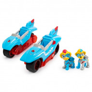 Set de joaca Mighty Twins Power Split Vehicle Patrula Catelusilor Mighty Pups Super Paws