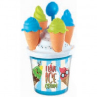Set jucarii pentru nisip I Love Ice Cream 7 piese