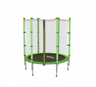 Trambulina cu plasa de protectie Sportmann Fun verde 140 cm