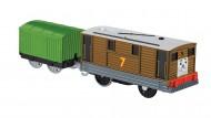 Trenulet Toby Locomotiva Motorizata cu Vagon Thomas&Friends Track Master