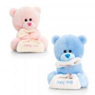 Ursulet de plus cu paturica Baby Keel Toys 14 cm - doua variante