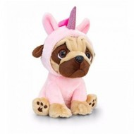 Catel de plus Mops in costum de unicorn 14 cm