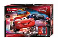 Circuit electric masinute Lightning McQueen si Jackson Storm Neon Nights Cars Carrera Go 5,3 m