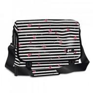 Geanta de umar pentru laptop Striped Roses Autonomy