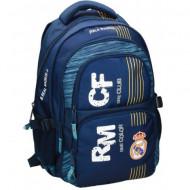 Ghiozdan ergonomic Real Madrid rotund cu doua compartimente 45 cm