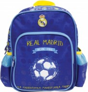 Ghiozdan FC Real Madrid cu 2 compartimente 28 cm