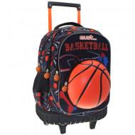 Ghiozdan troler Must 3D Basketball 45 cm