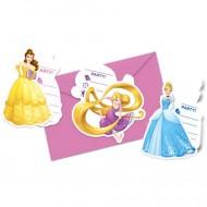 Invitatii pentru petrecere Printesele Disney