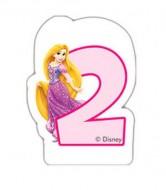 Lumanare tort cifra 2 Rapunzel Printesele Disney
