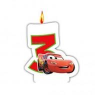Lumanare tort cifra 3 Fulger McQueen Cars