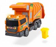 Masina de gunoi cu sunete si lumini Dickie Toys portocaliu 39 cm