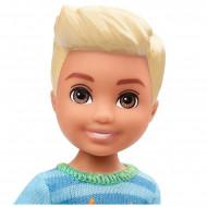Papusa baiat blond cu bluza cu extraterestru Barbie Club Chelsea