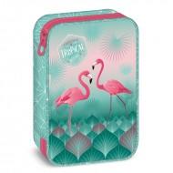 Penar neechipat cu perete despartitor Pink Flamingo