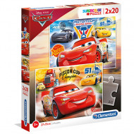 Puzzle Cars 3 Clementoni 2x20 piese