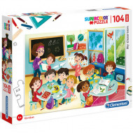Puzzle Maxi Sala de clasa Clementoni 104 piese