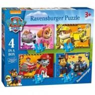 Puzzle Patrula Catelusilor 4 in 1 Ravensburger