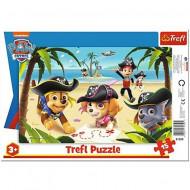 Puzzle Patrula Catelusilor Pirate Pups Trefl 15 piese