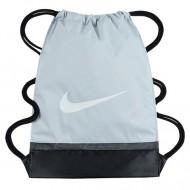 Sac de umar cu snur Nike Brasilia gri deschis