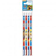 Set 4 creioane grafit cu radiera Patrula Catelusilor