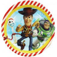Set 8 farfurii de unica folosinta 23 cm Toy Story 4