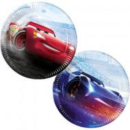 Set 8 farfurii de unica folosinta Fulger McQueen si Jackson Storm Cars 3 23 cm