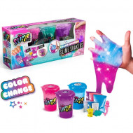 Set de creatie Slime Shaker Colour Changer So Slime 3 pachete