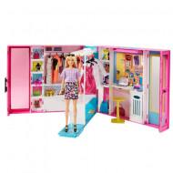 Set de joaca Garderoba de Vis Barbie cu papusa blonda
