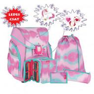 Set ghiozdan ergonomic Pink echipat
