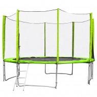 Trambulina cu plasa de protectie si scarita inSPORTline Froggy PRO 430 cm