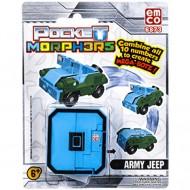 Vehicul transformabil Cifra 0 Jeep de armata Pocket Morphers