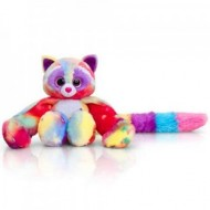 Pisica de plus curcubeu Lumi Hugg'ems 25 cm