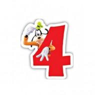 Lumanare tort cifra 4 Goofy Disney
