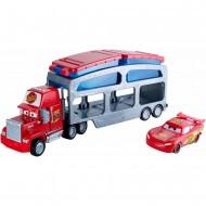 Camion Mack cu remorca si Masinuta Fulger McQueen care isi schimba culoarea Cars