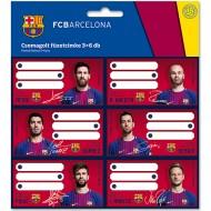Etichete caiet FC Barcelona 2017 18 buc