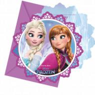 Invitatii pentru petrecere Anna si Elsa Frozen