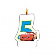 Lumanare tort cifra 5 Fulger McQueen Cars
