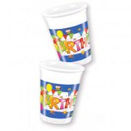 Pahare de plastic pentru petrecere 8 bucati