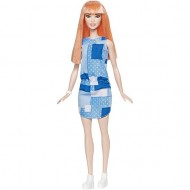 Papusa Barbie in rochie albastra Barbie Fashionistas
