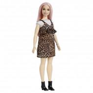 Papusa Barbie in rochie cu imprimeu de leopard Barbie Fashionistas