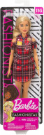 Papusa Barbie in rochie rosie Barbie Fashionistas