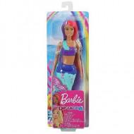 Papusa Barbie sirena cu par roz si mov Barbie Dreamtopia