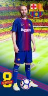 Prosop bumbac Iniesta Barcelona 140x70 cm FCB172077-R