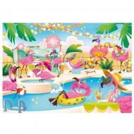 Puzzle Flamingo Party Clementoni 104 piese