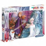 Puzzle Glitter Ana si Elsa Frozen 2 Clementoni 104 piese
