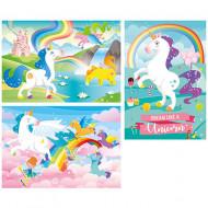 Puzzle I Believe in Unicorns Clementoni 3x48 piese