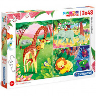 Puzzle Jungle Friends Clementoni 3x48 piese